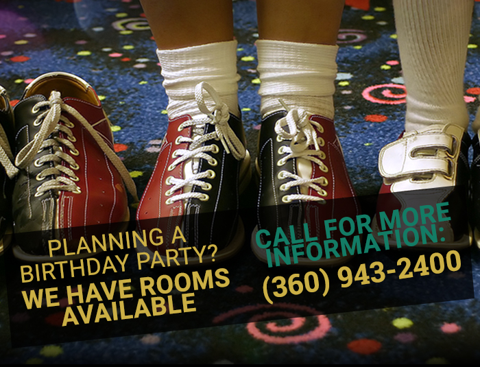 Planning a birthday party? We have rooms available. Call for more information.